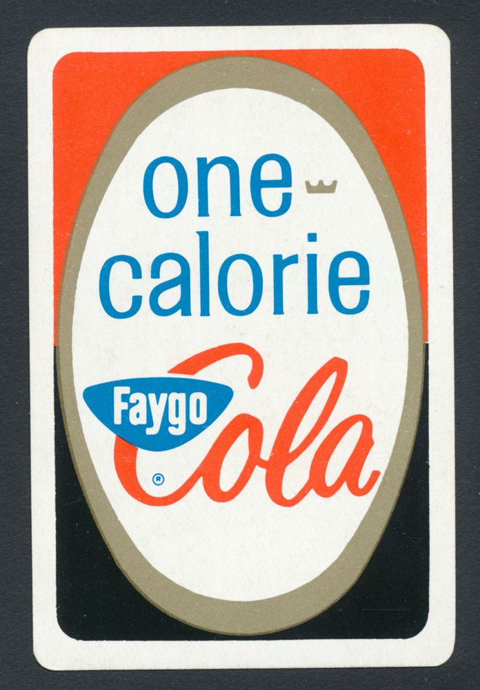 One Calorie Faygo Cola playing card single swap king of spades - 1 card