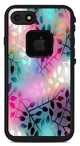 Neon colorful leaves design print image lifeproof fre iphone 7 vinyl sticker decal wrap skin by