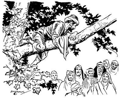 Zacchaeus The Tax Collector Zacchaeus Coloring Pages Bible Pictures