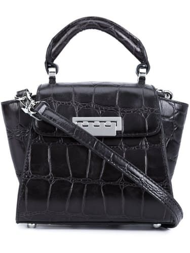 Eartha Iconic Top Handle Mini in Graphite Croc