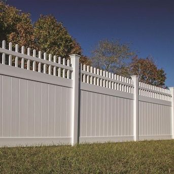 Freedom Wakefield 6-ft H x 8-ft W White Vinyl Fence Panel ...