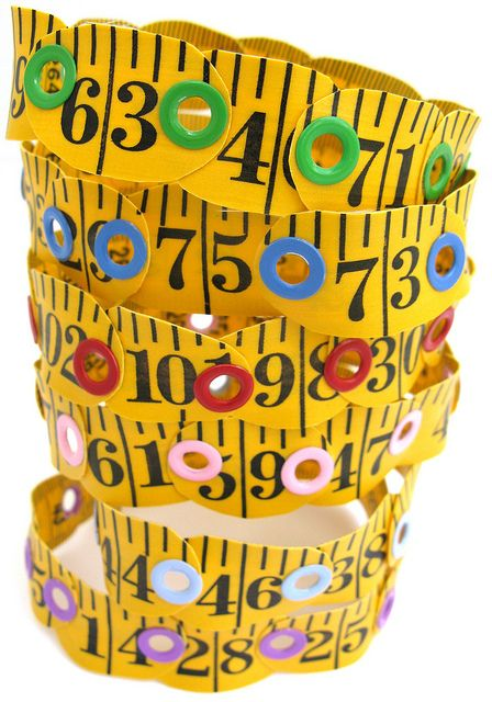 Tape Measure Bracelets - just for fun.
