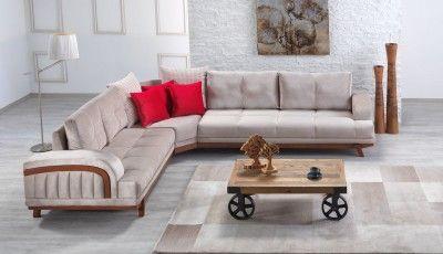 AuBergewohnlich Casa Padrino Designer Wohnzimmer Set 337 X 278 Cm   Ecksofa   Creme Grau  Hotel