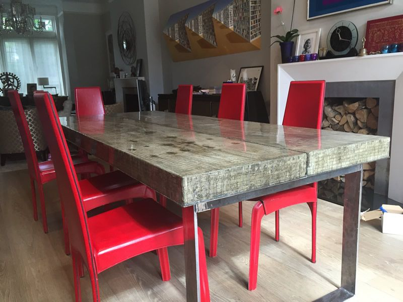 Large Composite Concrete Dining Table Uk