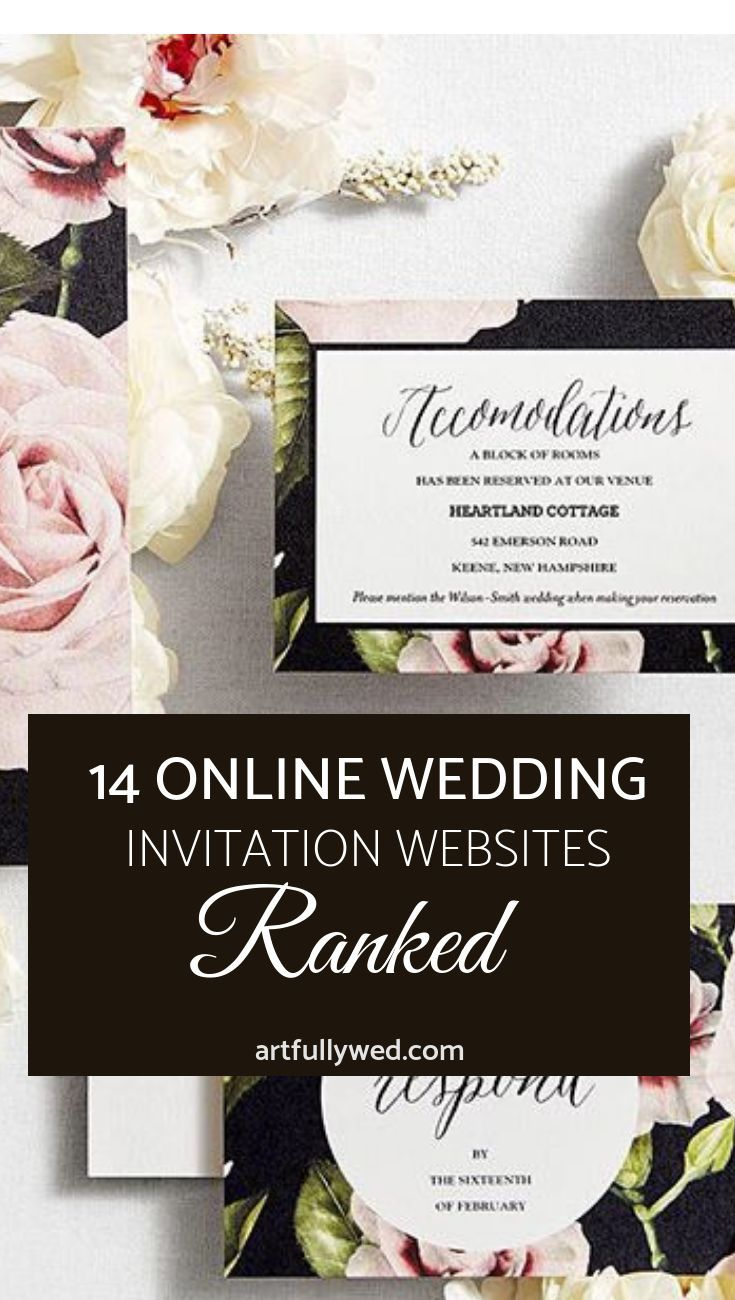 14 Online Wedding Invitation Websites Ranked Wedding