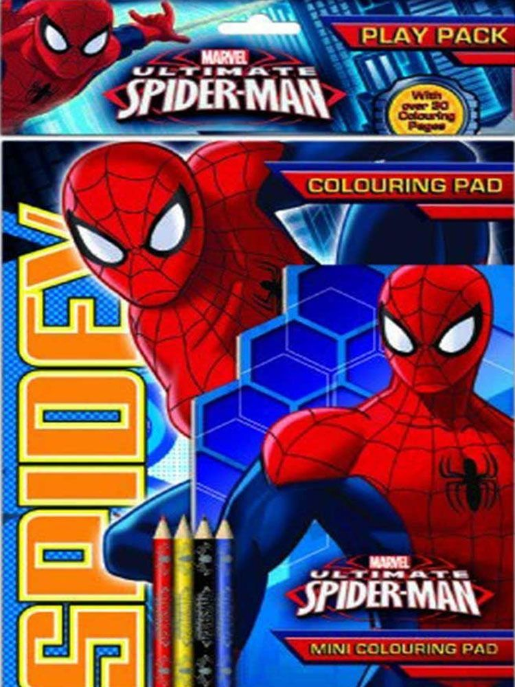 Marvel Ultimate Spiderman Play Pack Colouring Pad Pencils Childrens Activity Set Ultimate Spiderman Spiderman Play Spider Man