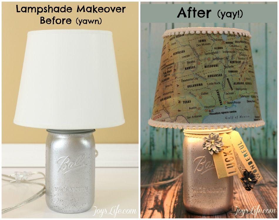 Diy map lampshade makeover tutorial pinterest lamp shade map paper lamp shade makeover tutorial modpodge diy lampshade aloadofball Choice Image