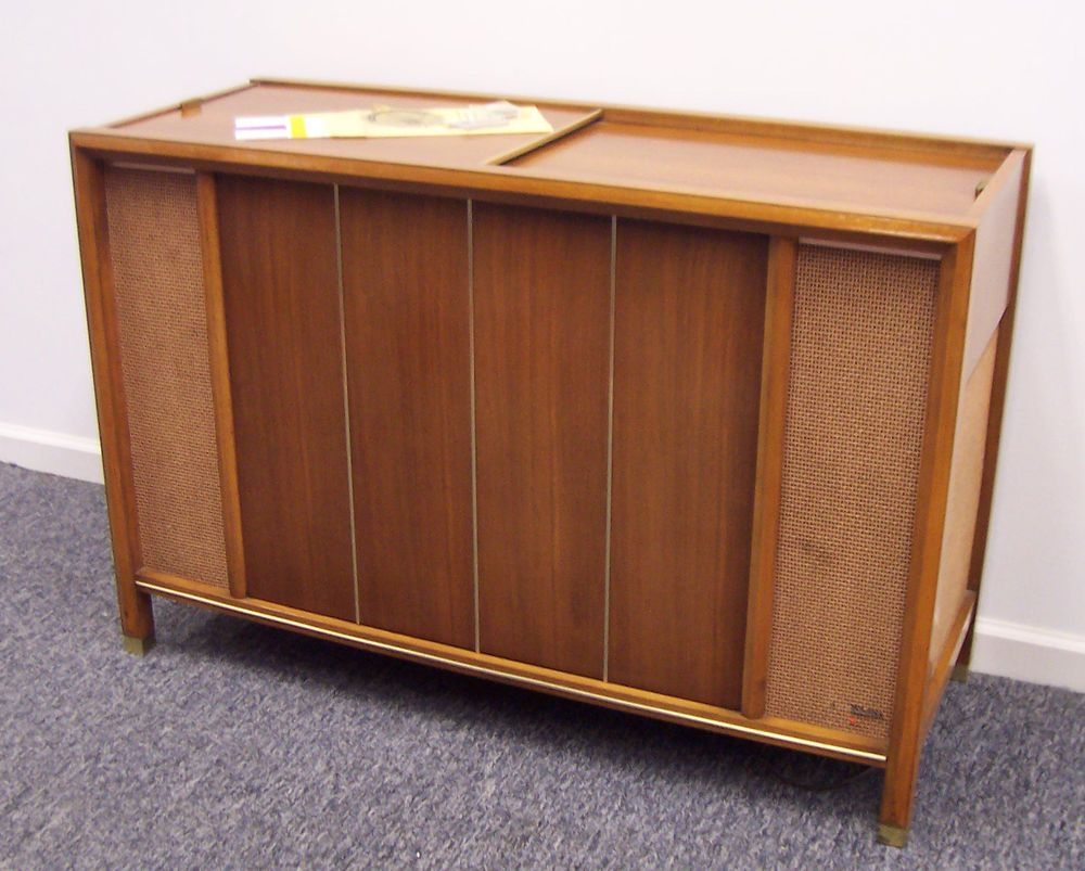 mid century modern magnavox console stereo am fm imperial record player  1st628a #magnavox
