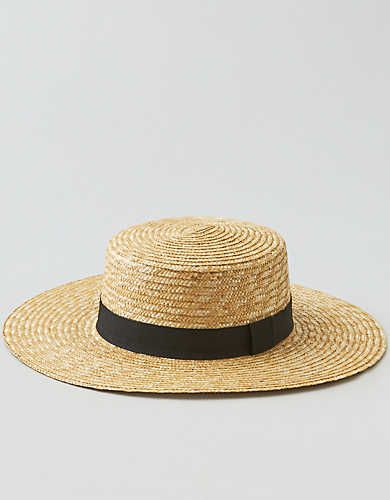 7416158c AEO Wide Brim Straw Boater Hat | Dress Me Up | Boater hat, Hats, Boater