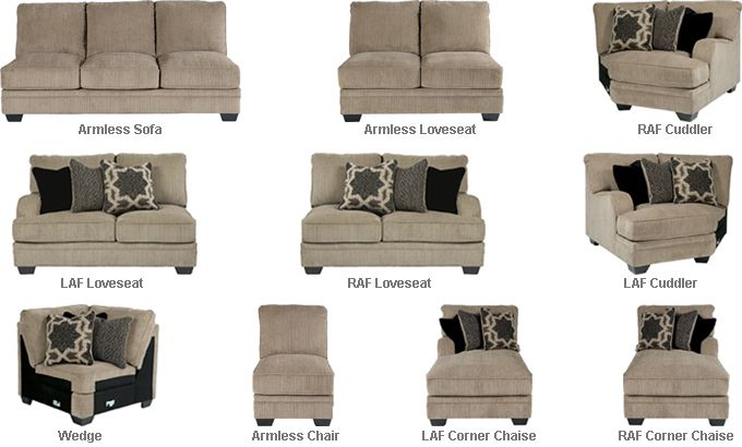 Ashley Katisha Sectional Parts   With A Stylish Contemporary Design And  Numerous Modular Pieces To Create