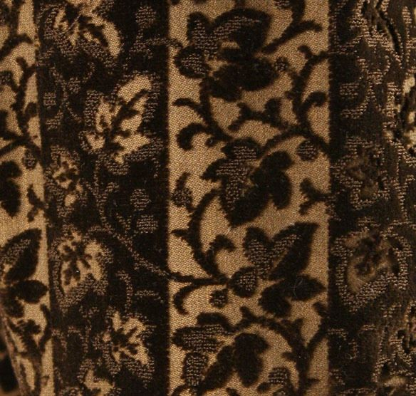 Fabric detail of French silk dress from 1879