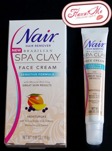 Nair Brazilian Spa Clay Face Hair Removal Cream Face Hair
