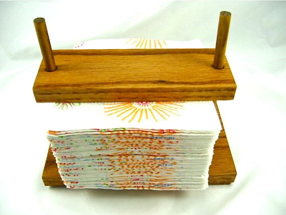 Wooden Napkin/Paper Holder Adustable Indoor Outdoor Camping Home Decor Rustic Wedding Gift Guide