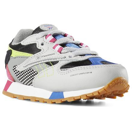 d9819437a Reebok Shoes Unisex Classic Leather ATI 90s in Grey Blk Pink Size 5 ...