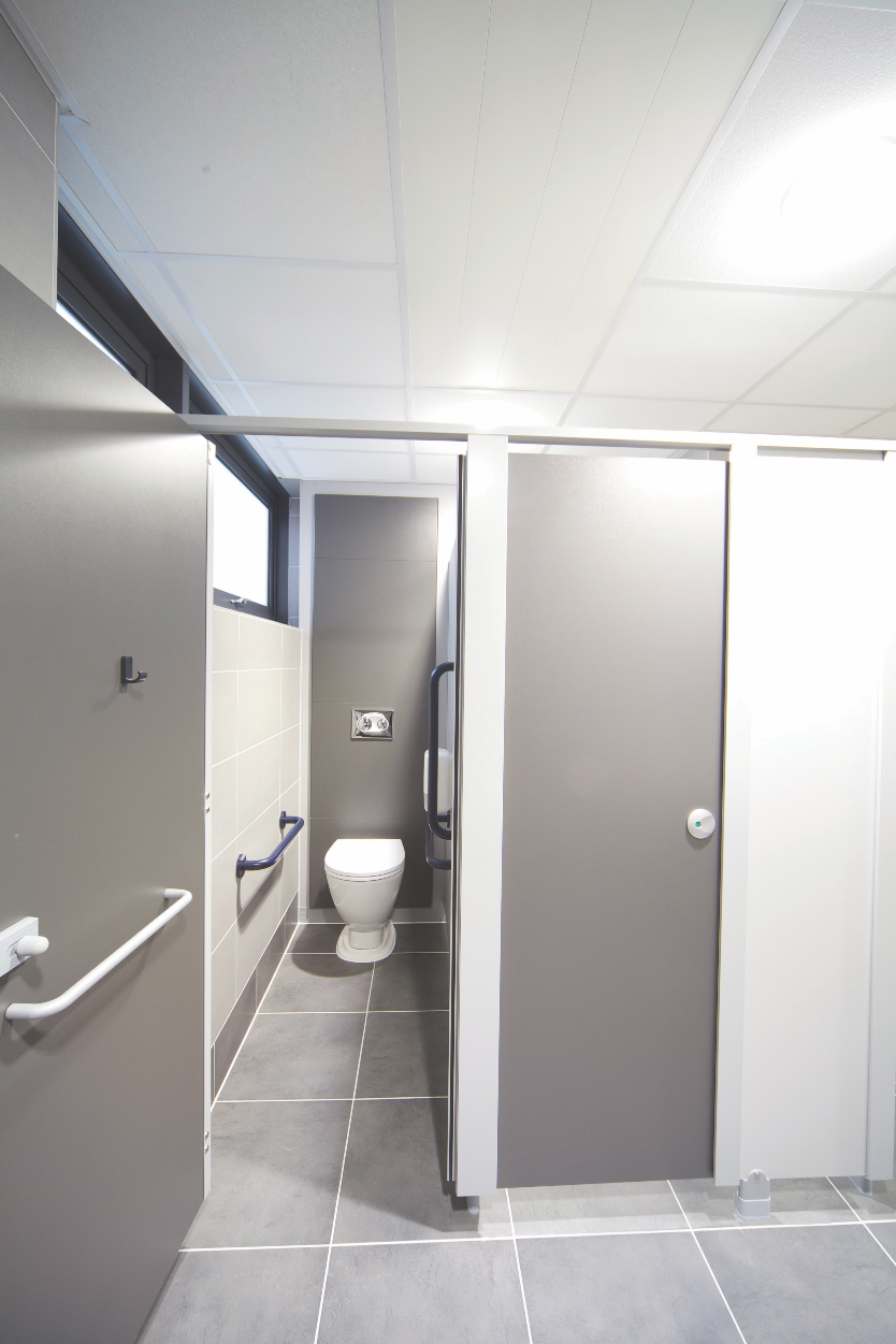 Modern toilet WC design at a commercial office. Tiles from Solus ...