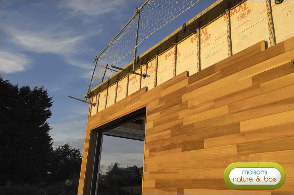 Jour 3 reportage maison bois pinterest construction bois maison ossature bois et ossature - Reportage construction maison ...