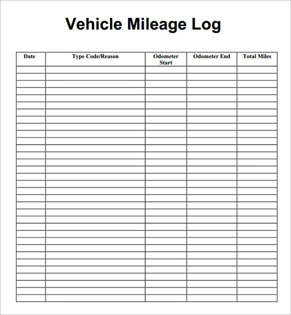 8+ Mileage Log Templates u2013 Free Word, Excel, PDF Documents - free log templates