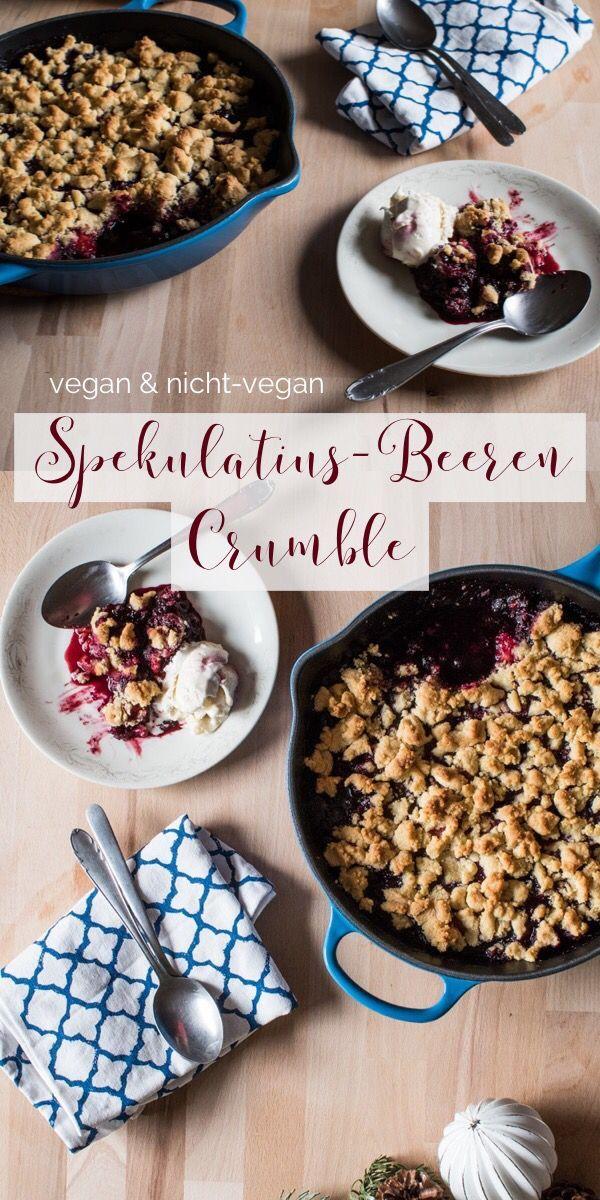Backrezept Spekulatius-Beeren-Crumble.