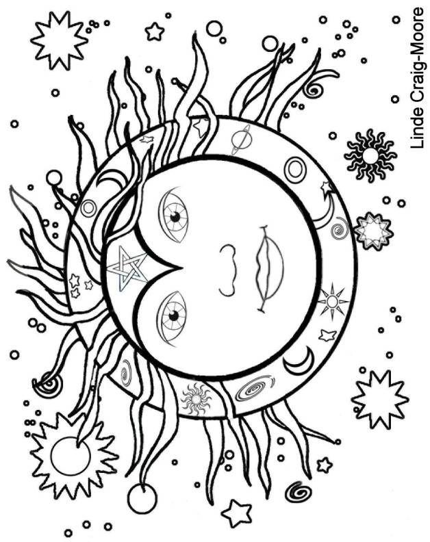 Midsummer Sun coloring page | kleuren | Pinterest | Flores ...