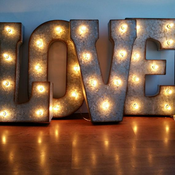 Love 21 Large Metal Marquee Letters Wedding Letter Etsy Marquee Letters Decor Light Letters Marquee Letters
