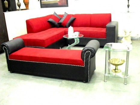 For Sale Red L Shape Sofa With Settee For More Information Please Visit Http Usedfurnitures In Product L Shaped Sofa In 2020 Sofa Bed Sale Sofa Bed Set Beds For Sale