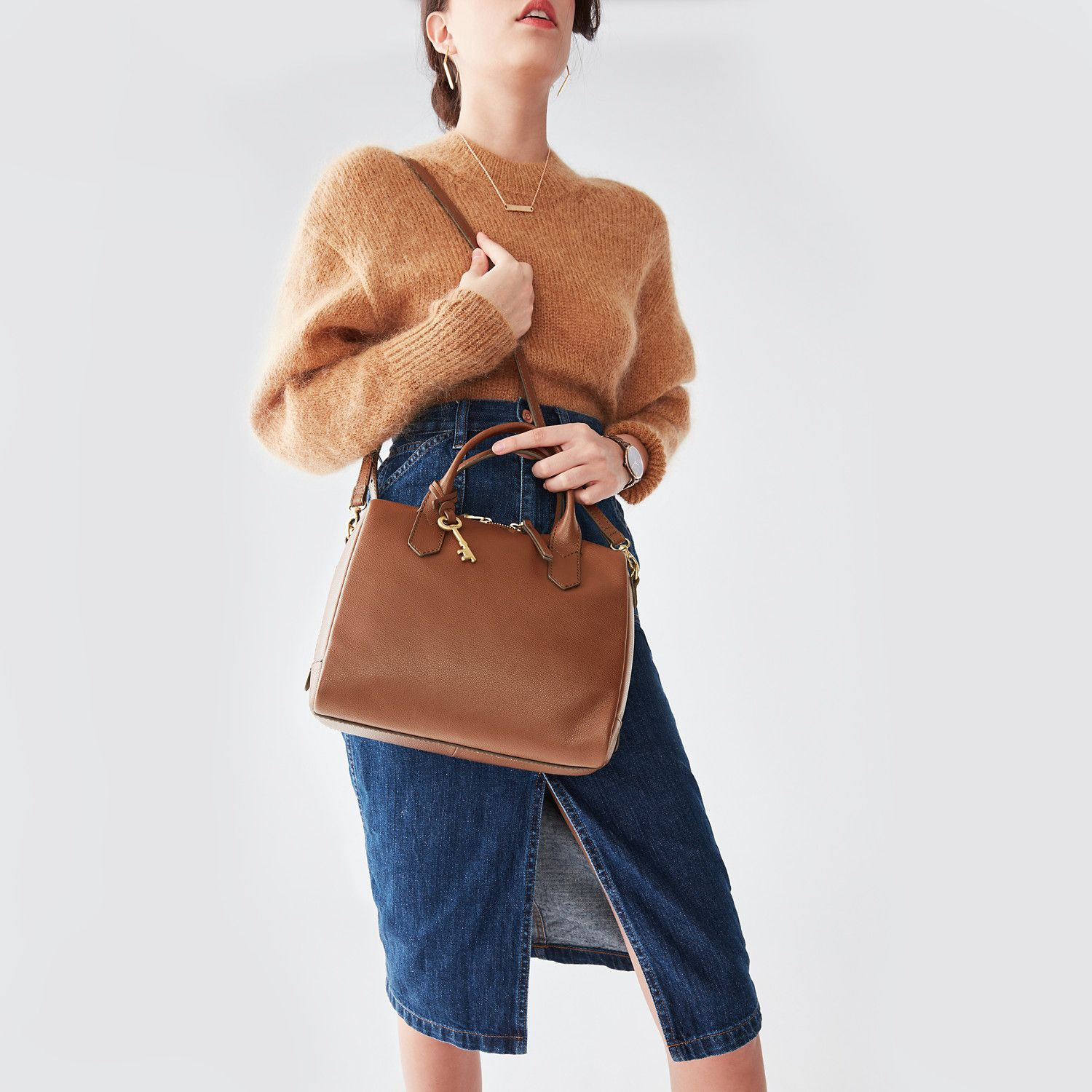 0123f81dd8 Image result for Fossil Fiona Small Leather Satchel