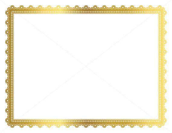 Gold Decorative Frame, Page Border, Digital Frame, Border Paper - certificate borders free download