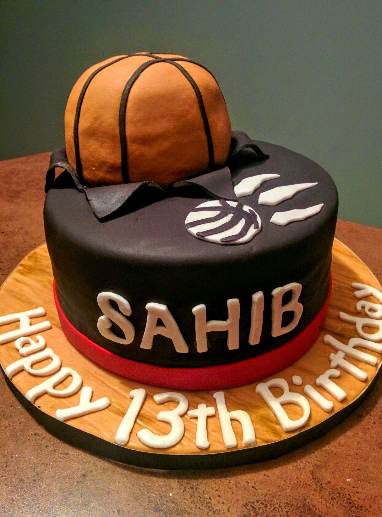 Raptors Basketball Cake