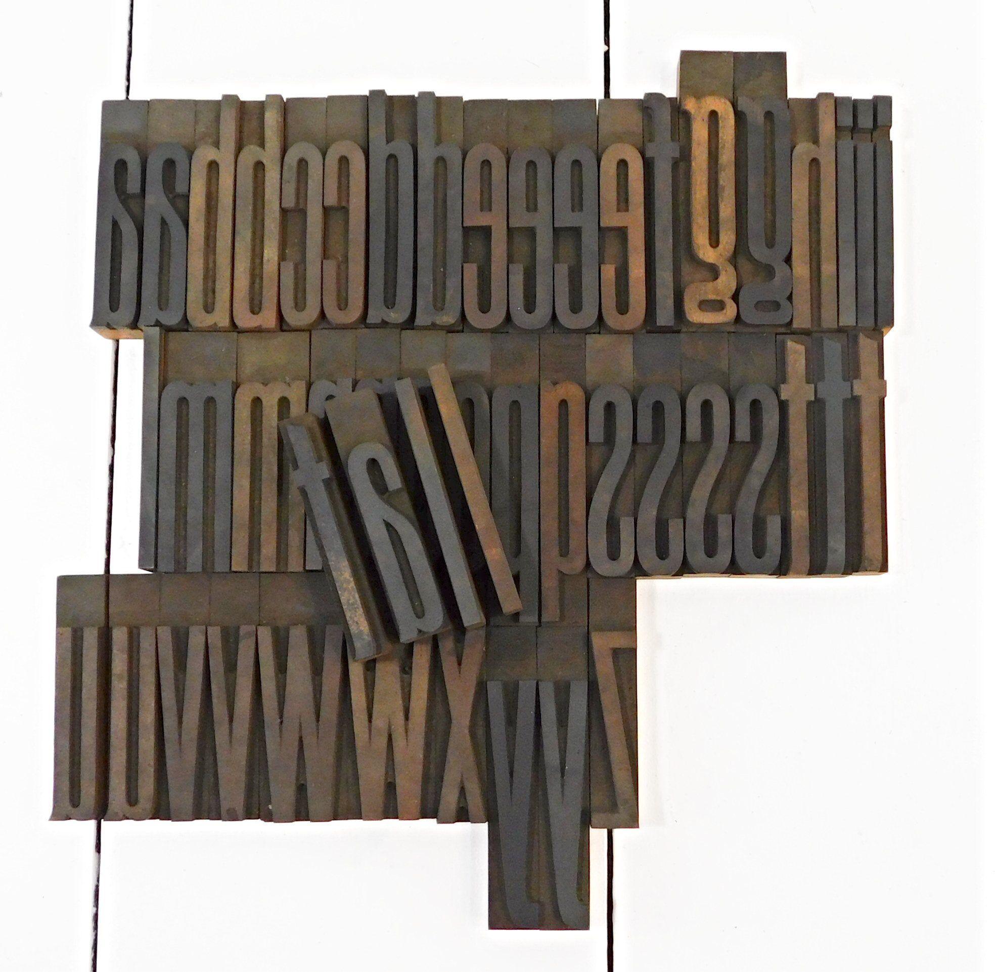choose letters Vintage letterpress wooden printing blocks sold individually