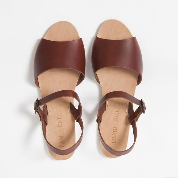 da9913839 STYLE NO. PLPR-014 Smooth british tan leather sandal with adjustable strap  + matte black buckle hardware. -Buckled strap slides up + down for personal  ...