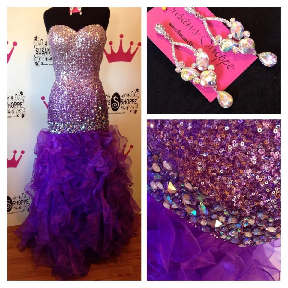 M s evening dresses purple