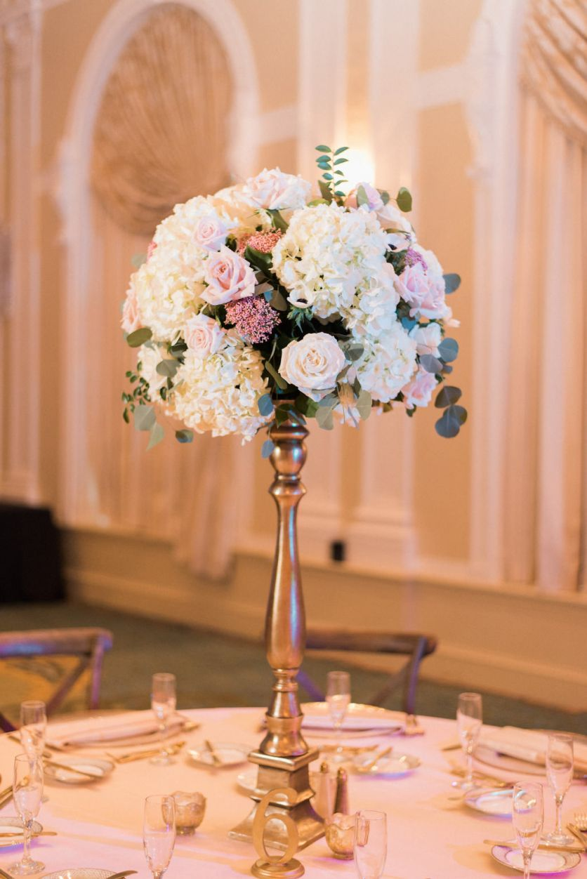 Elegant Blush Pink And Navy Outdoor Downtown St Pete
