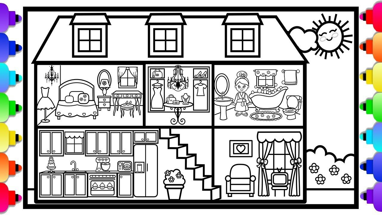 Pin on Cute Printable Coloring Pages Original Artwork by Rainbow ...
