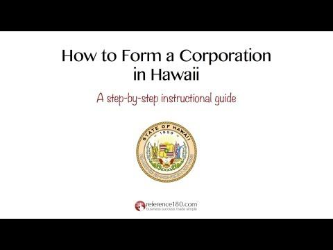 Visit Http Www Reference180 Com Incorporate In Hawaii And Download Your Free Hawaii Corporation Quick Start Guide Get Instruction Corporate Instruction Form