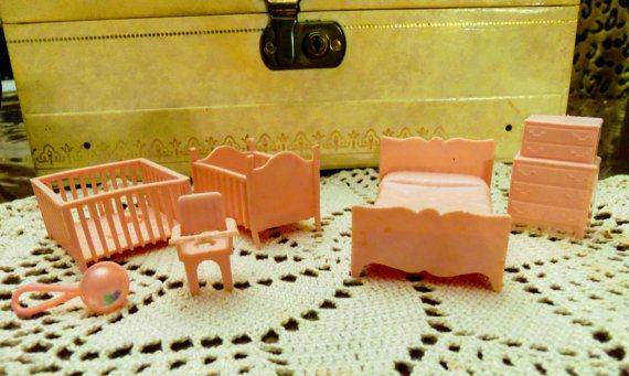 Dollhouse Furniture Plastic Dollhouse Furniture by KittyCrafts80