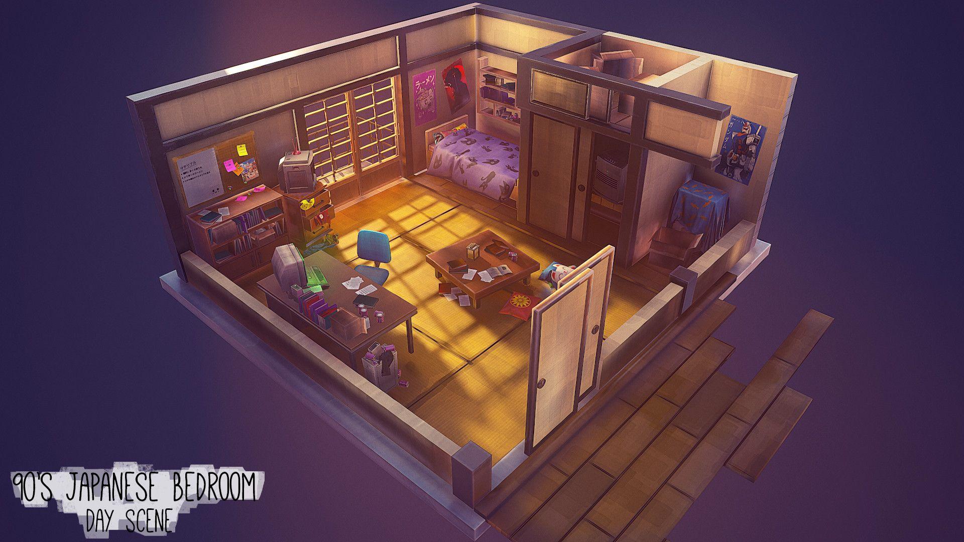 Artstation 90s japan apartment slice ashley heppell