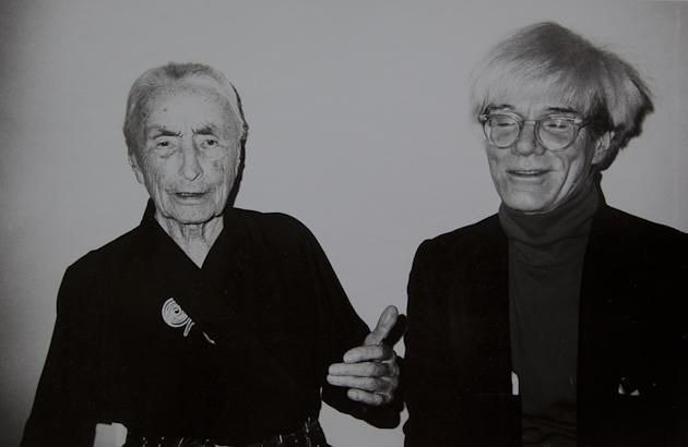 Georgia O'Keefe and Andy Warhol - two distinctly different artistic styles