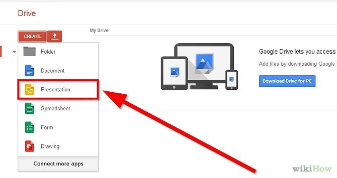 create a presentation using google slides google drive