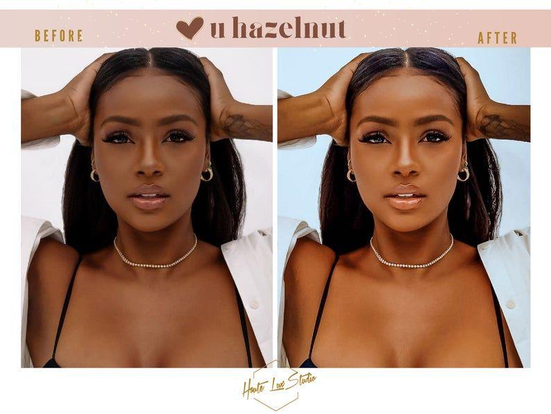 6 Lightroom Hazelnut Melanin Presets Best Presets For Brown Etsy In 2021 Lightroom Brown Skin Brown Skin Girls