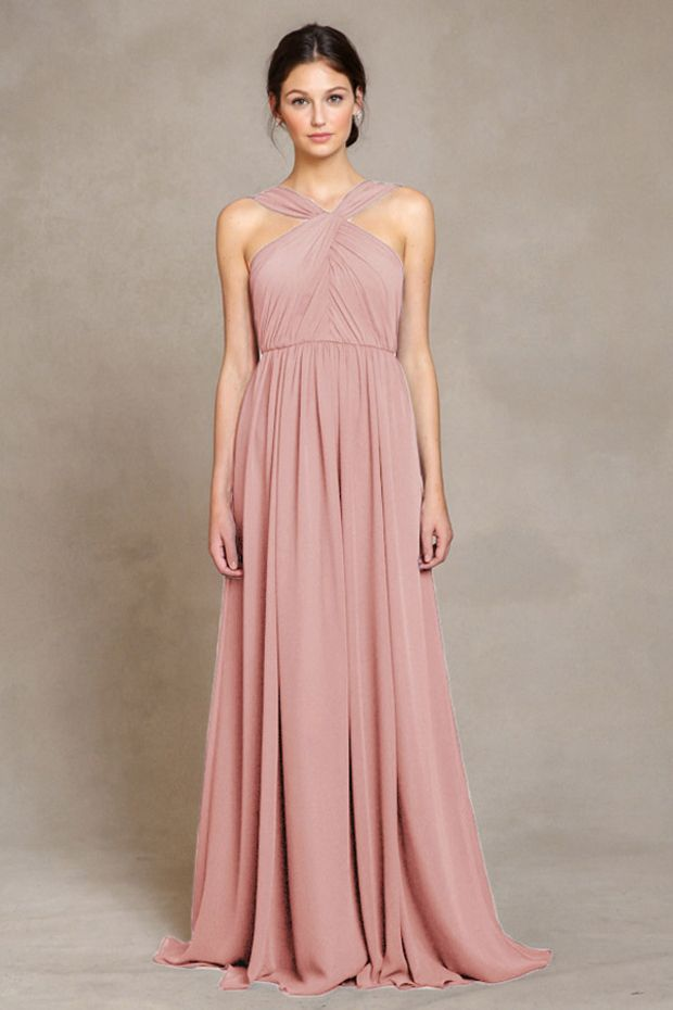 17 Stunning Blush Bridesmaid Dresses | Lilac bridesmaid, Wedding and ...