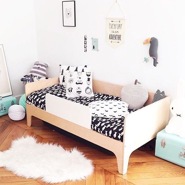 Instagram photo by @oeufnyc Oeufnyc Oeuf modern toddler bed ...