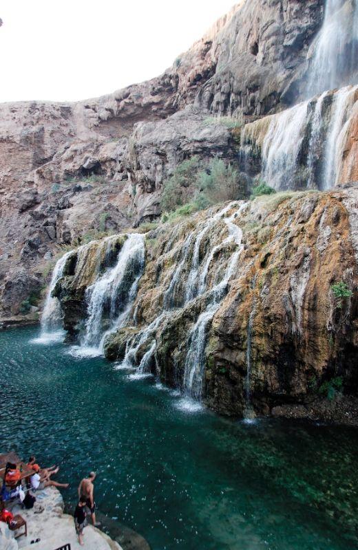 Waterfalls Hammamat Ma In Jordan