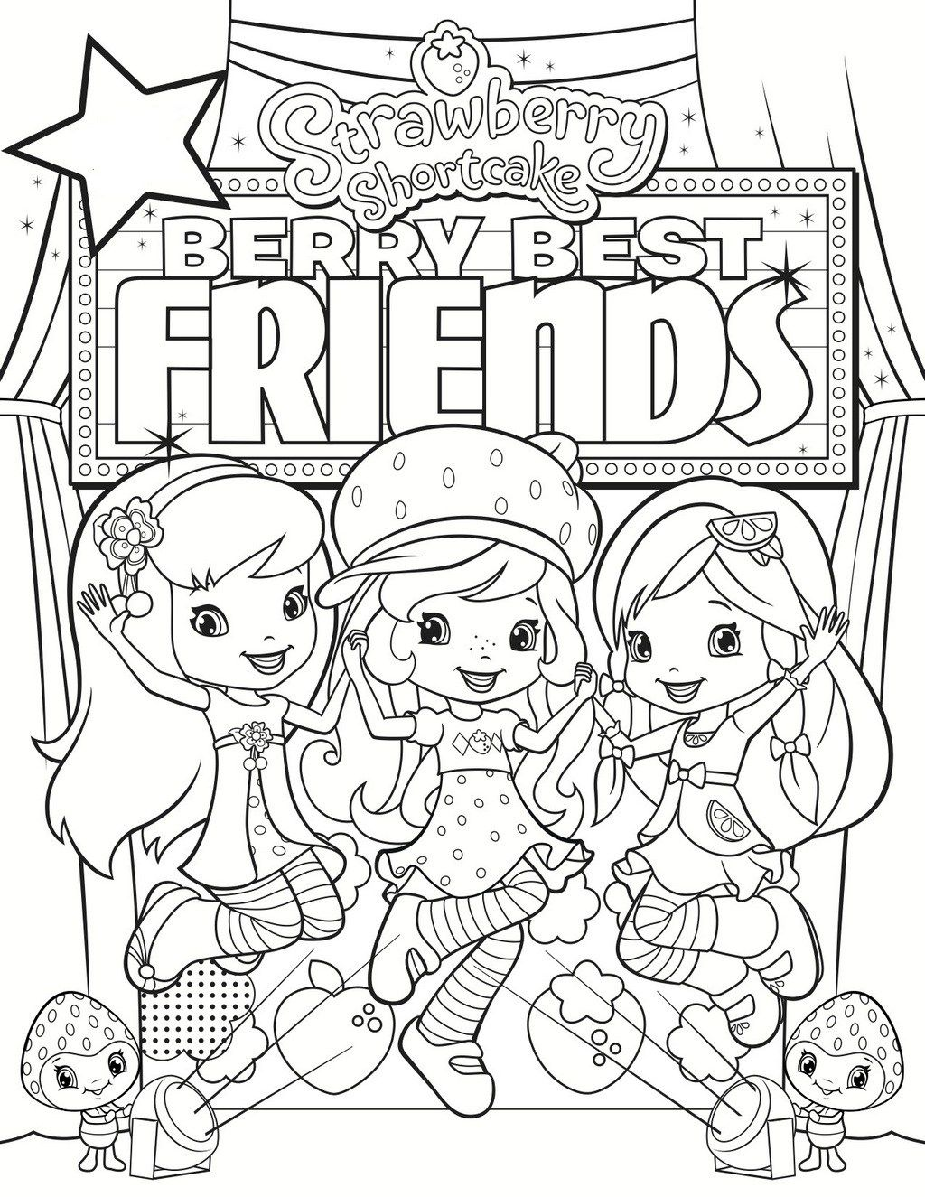 Berry Best Friends Coloring Page Printable | animated series ...