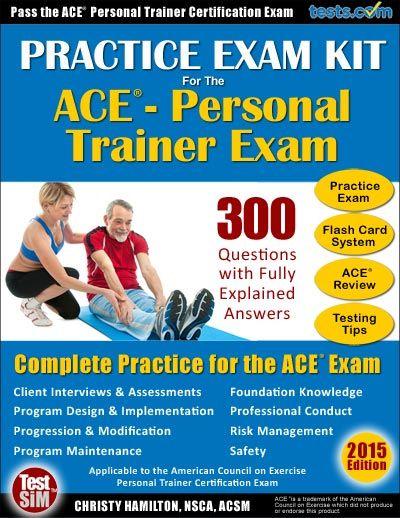 Practice Exam - ACE-Personal Trainer   ACE exam   Pinterest ...