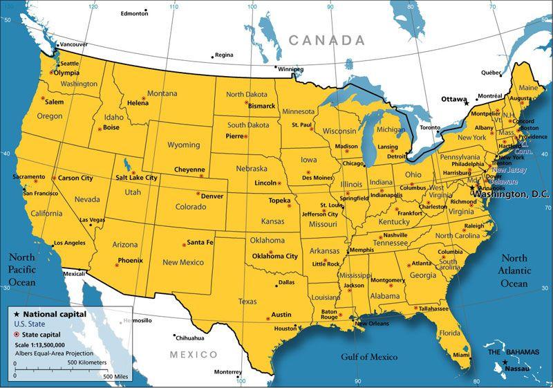 Carte Routiere Des Etats Unis Carte Etats Unis Voyage Aux Etats