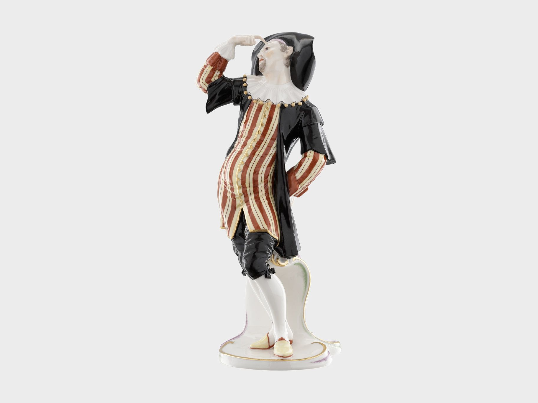 Dottore, Commedia dell'Arte by Franz Anton Bustelli, porcelain glazed, coloured by hand, 1754