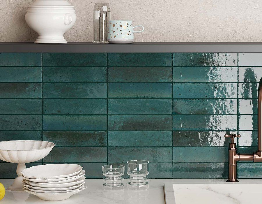 Ceramic And Porcelain Tiles For Walls And Floors Marazzi In 2021 Kitchen Tiles Turquoise Kitchen Tiles Modern Kitchen Design