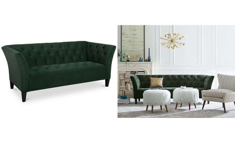Arielle Tufted Fabric Sofa Only At Macy 39 S Living Room