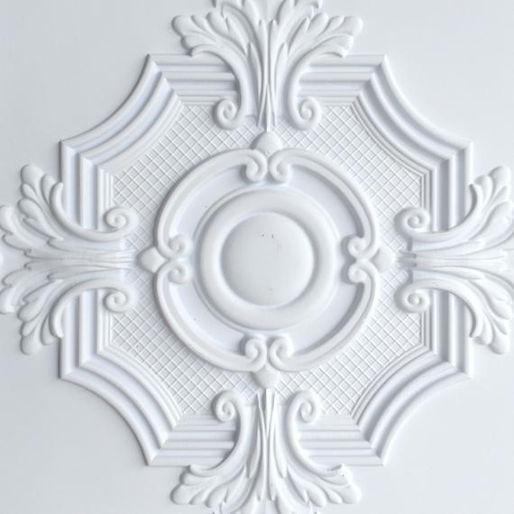 Ceiling Tile Faux Tin White Color PL38 10tiles Lot