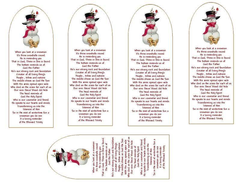 snowman ornament poem - Google Search   Snowman ornaments ...